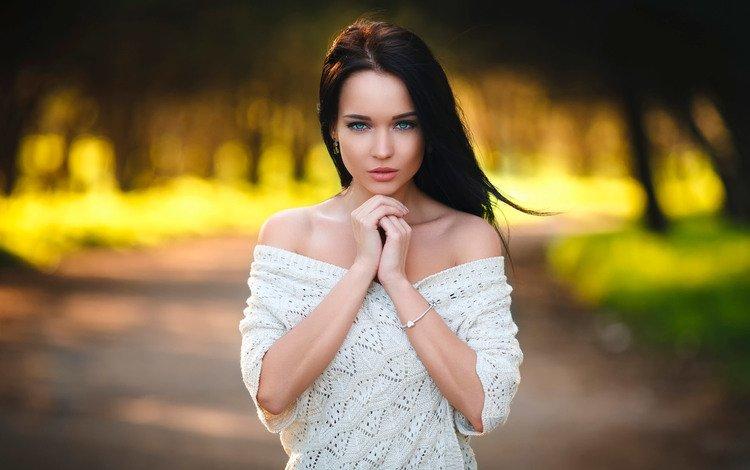 bokeh, the beauty, angelina, denis petrov, simply portrait