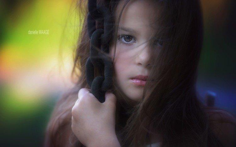 портрет, взгляд, девочка, волосы, лицо, danielle waage, portrait, look, girl, hair, face