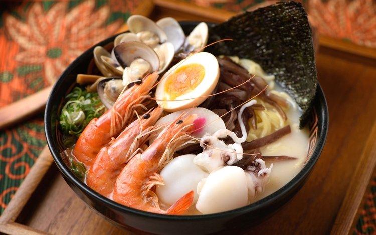 яйцо, морепродукты, креветки, кальмары, моллюски, egg, seafood, shrimp, squid, shellfish