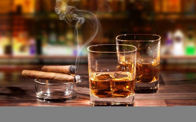 напиток, дым, стаканы, алкоголь, сигары, виски, drink, smoke, glasses, alcohol, cigars, whiskey