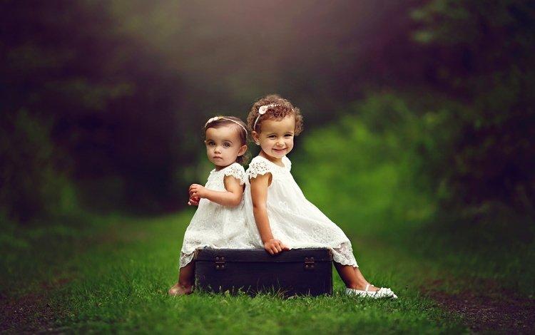 лес, настроение, дети, девочки, малыши, forest, mood, children, girls, kids