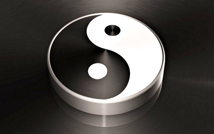 male, black, white, woman, yin yang, the opposite