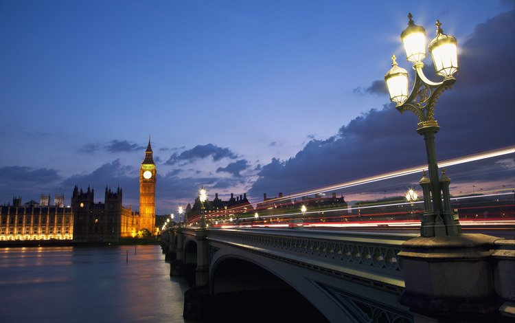 небо, лондон, биг бен, облака, темза, трафик, фонари, город, столица, огни, англия, вечер, архитектура, река, синее, тучи, мост, освещение, великобритания, выдержка, the sky, london, big ben, clouds, thames, traffic, lights, the city, capital, england, the evening, architecture, river, blue, bridge, lighting, uk, excerpt