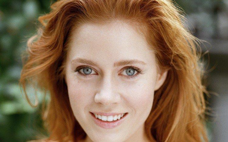 девушка, эми адамс, улыбка, портрет, взгляд, волосы, лицо, актриса, рыжеволосая, girl, amy adams, smile, portrait, look, hair, face, actress, redhead
