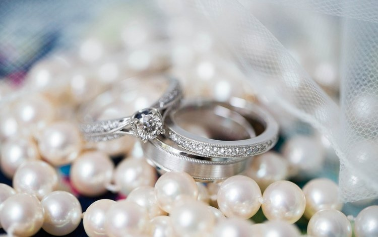 макро, лента, кольца, свадьба, жемчуг, помолвка, macro, tape, ring, wedding, pearl, engagement