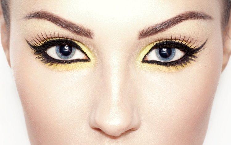 глаза, девушка, взгляд, лицо, макияж, грим, сексапильная, eyes, girl, look, face, makeup, sexy