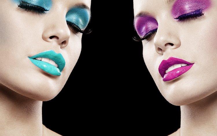 глаза, закрытые глаза, портрет, в стиле, девушки, грим, сексапильная, черный фон, модел, лицо, макияж, модели, расцветка, eyes, closed eyes, portrait, style, girls, sexy, black background, face, makeup, model, colors