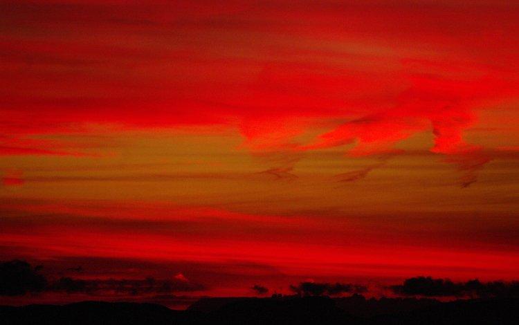 небо, облака, природа, тучи, зарево, the sky, clouds, nature, glow