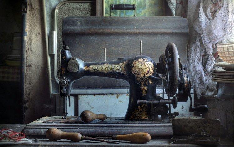 фон, швейная машина, старьё, background, sewing machine, junk