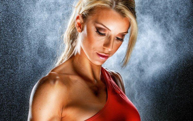 девушка, сексапильная, блондинка, ashley pfaff, портрет, взгляд, модель, лицо, башка, блонд, голые плечи, bare shoulders, girl, sexy, blonde, portrait, look, model, face, head