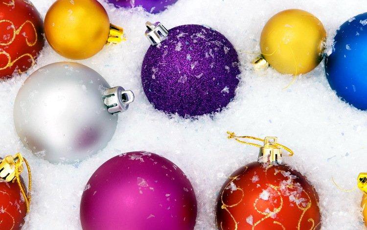 снег, новый год, шары, шарики, игрушки, встреча нового года, snow, new year, balls, toys