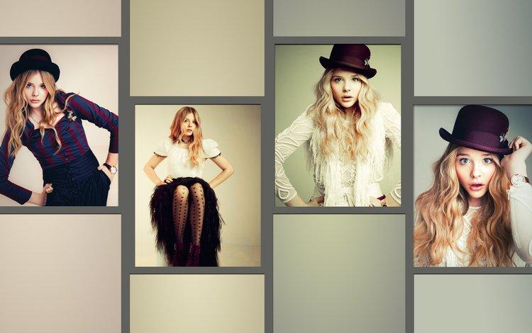 девушка, модель, актриса, коллаж, хлоя морец, хлоя моретц, girl, model, actress, collage, chloe moretz
