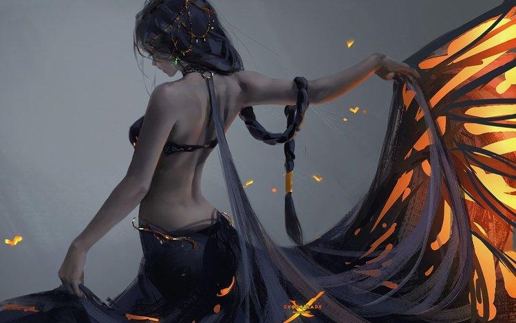 арт, девушка, wlop, ghostblade, art, girl