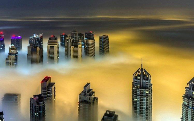 ночь, город, небоскребы, путешествия, дубаи, городской пейзаж, night, the city, skyscrapers, travel, dubai, the urban landscape