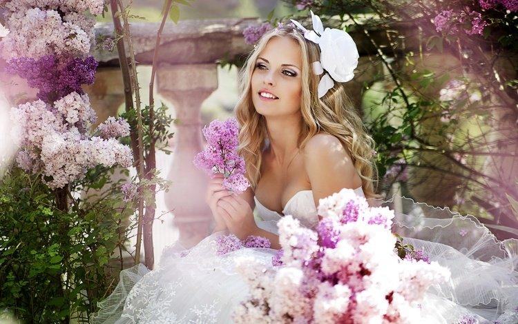 цветы, венчание, девушка, gевочка, bouguet of flowers, улыбка, veils, радость, невесты, свадьба, невеста, смайл, фата, veil, flowers, girl, smile, joy, bride, wedding, the bride