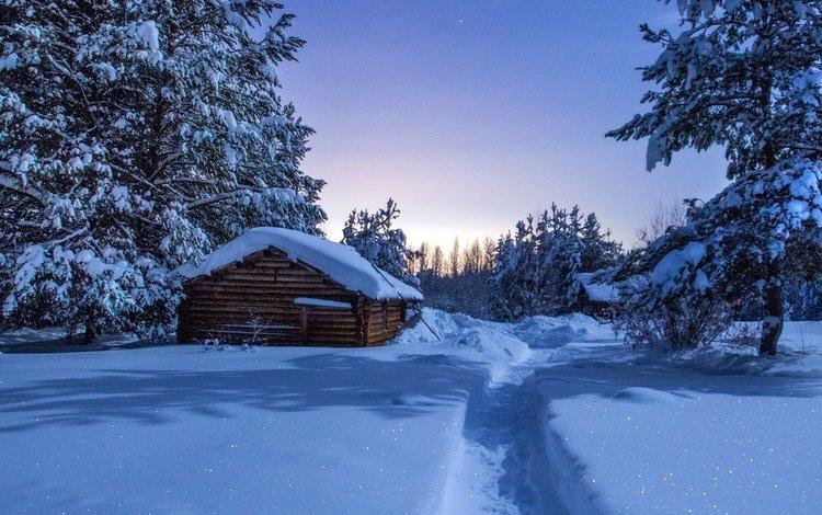 снег, зима, тропа, заимка, snow, winter, trail, zaimka