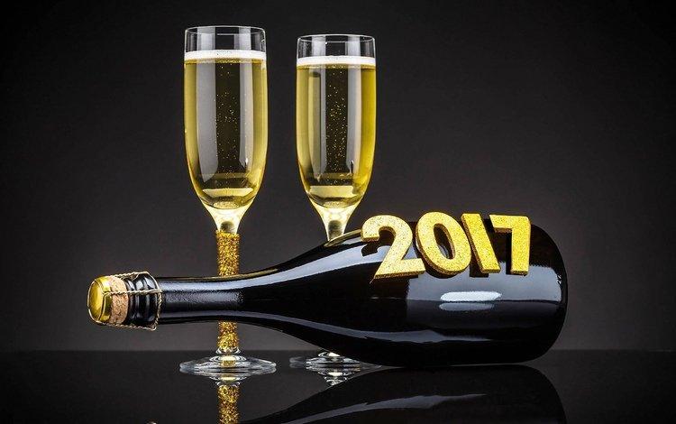 новый год, бокалы, праздник, шампанское, new year, glasses, holiday, champagne