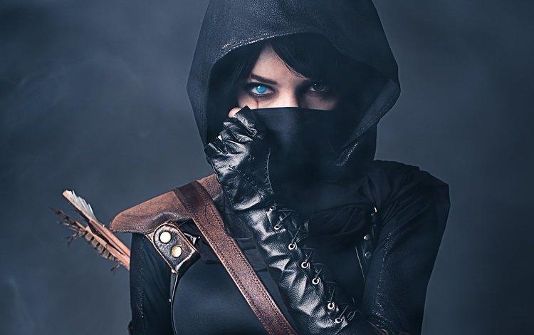girl, eyes, game, scar, thief girl, zelda, thief