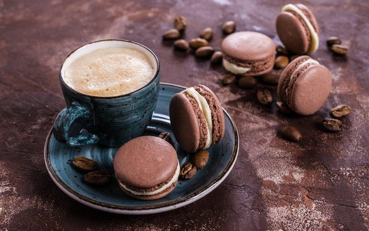 кофе, миндальное, печенье, крем, выпечка, coffee cup, десерт, француженка, макарун, макаруны, сладенько, coffee, almond, cookies, cream, cakes, dessert, french, macaron, macaroon, sweet