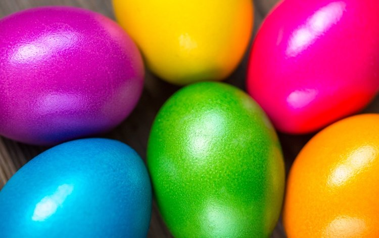 rainbow, easter, eggs, spring, happy, colorful, the painted eggs