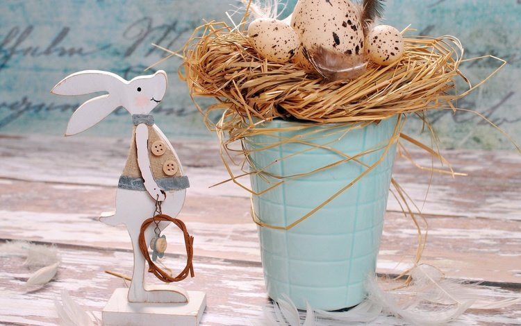 rabbit, easter, eggs, holiday, decor