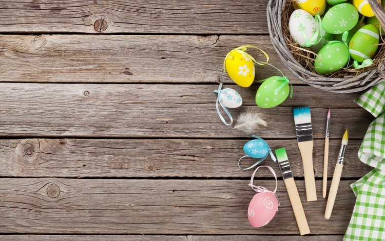 пасха, пастель, кисточки, глазунья, весенние, зеленые пасхальные, довольная, яйца крашеные, easter, pastel, brush, eggs, spring, happy, the painted eggs