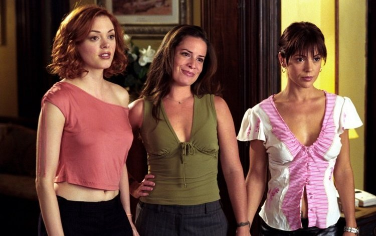 rose mcgowan, alyssa milano, enchanted, actress, charmed, holly marie combs