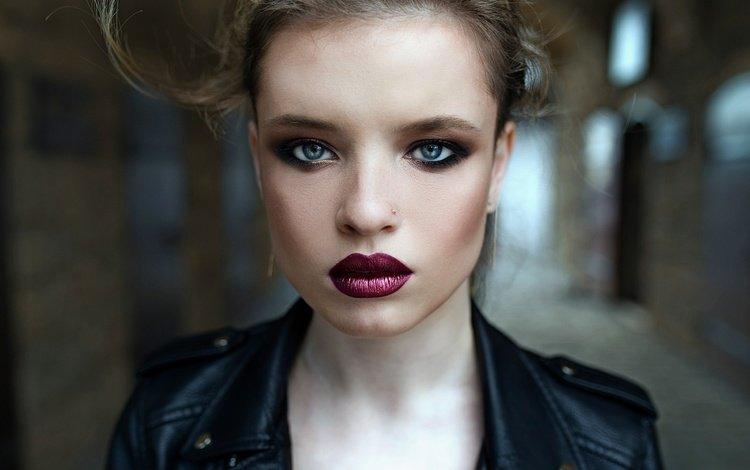 девушка, взгляд, волосы, губы, лицо, макияж, ретушь, moon illusion, girl, look, hair, lips, face, makeup, retouching