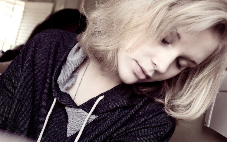 девушка, блондинка, сон, модель, волосы, лицо, girl, blonde, sleep, model, hair, face
