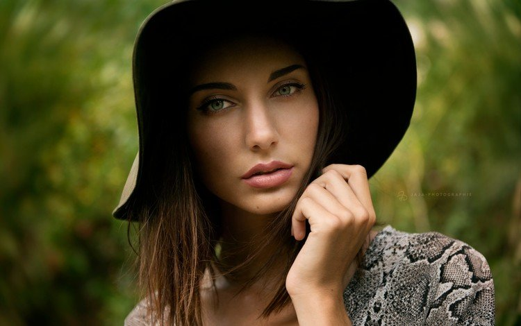 девушка, портрет, взгляд, лицо, шляпка, шляпа, estelle, julien fischer, girl, portrait, look, face, hat