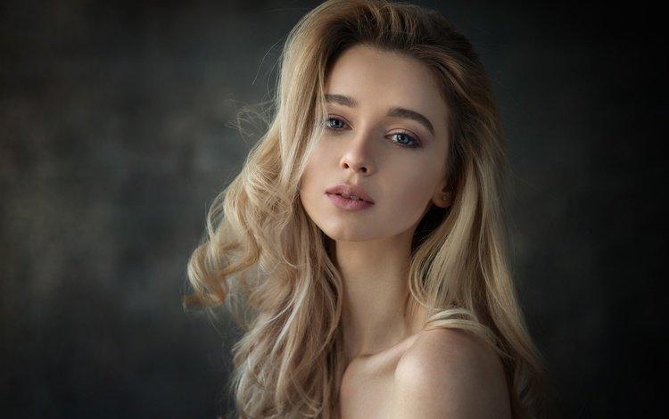 девушка, блондинка, портрет, взгляд, фотограф, анна, dennis drozhzhin, girl, blonde, portrait, look, photographer, anna