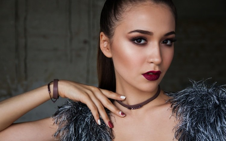 девушка, портрет, модель, волосы, макияж, nastya_gepp, girl, portrait, model, hair, makeup