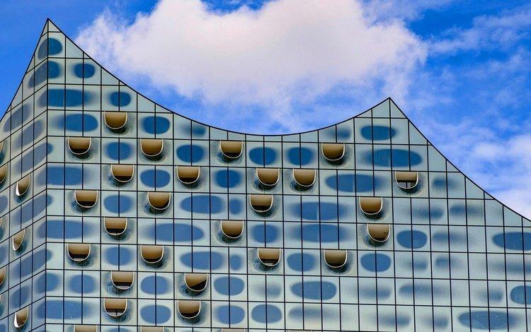 здание, германия, гамбург, фасад, филармония на эльбе, the building, germany, hamburg, facade, the elbe philharmonic hall