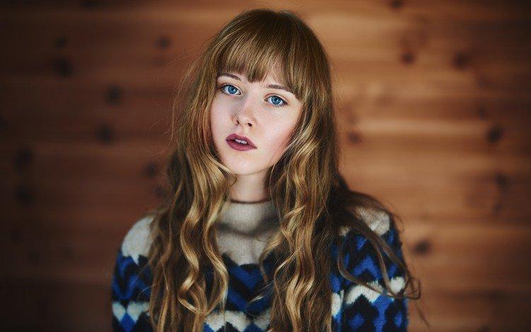глаза, девушка, портрет, взгляд, волосы, губы, лицо, голубые глаза, eyes, girl, portrait, look, hair, lips, face, blue eyes