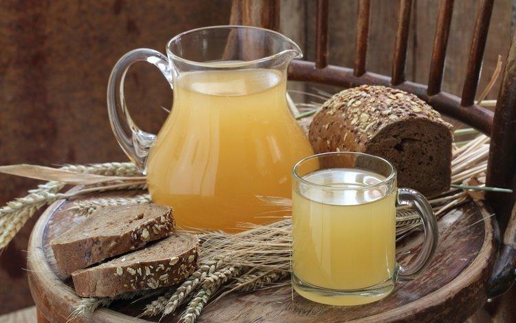 напиток, колосья, пшеница, хлеб, кувшин, квас, drink, ears, wheat, bread, pitcher, brew