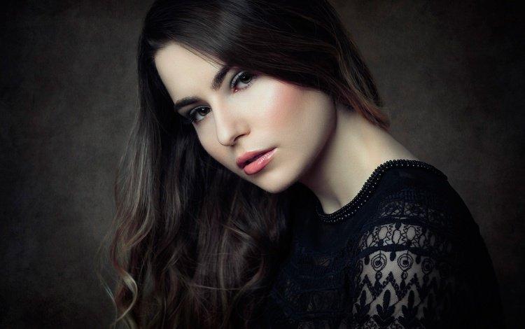 девушка, портрет, модель, волосы, губы, лицо, макияж, студия, girl, portrait, model, hair, lips, face, makeup, studio