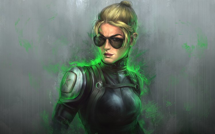 art, look, glasses, mortal kombat x, cassie cage