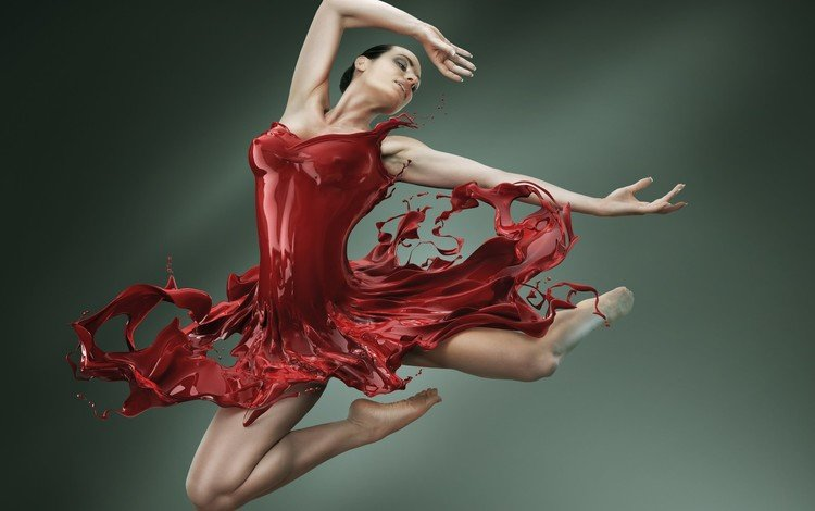 девушка, платье, краска, фигура, балет, балерина, girl, dress, paint, figure, ballet, ballerina