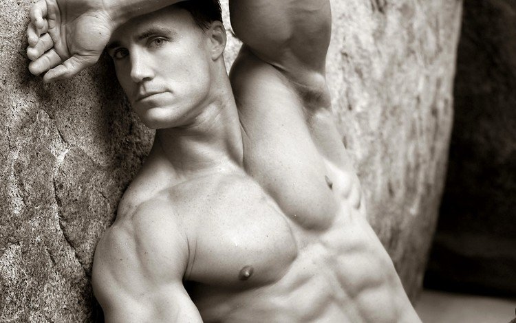 look, black and white, actor, face, male, muscle, greg plitt