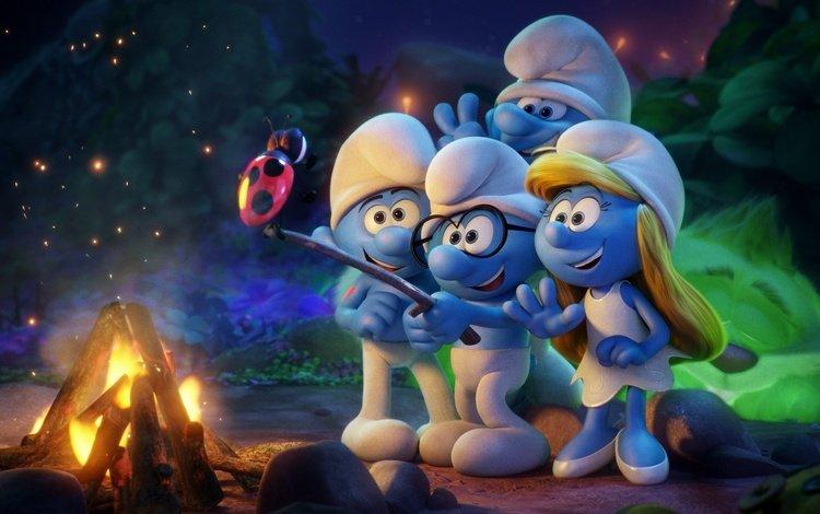 cartoon, ladybug, the fire, the smurfs, bbq, smurfs 3 the lost village, smurfette, the smurfs:the lost village