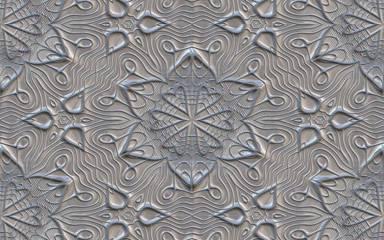 цветы, текстура, фон, узор, серый, орнамент, плитка, flowers, texture, background, pattern, grey, ornament, tile