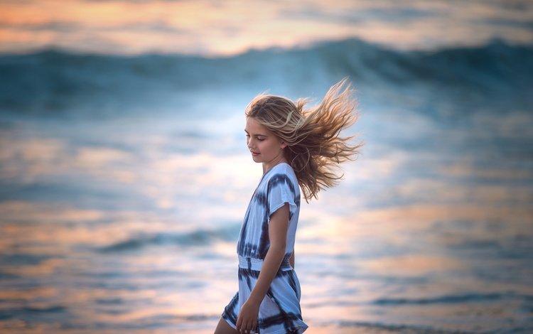 дети, девочка, волосы, лицо, ветер, edie layland, children, girl, hair, face, the wind