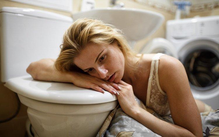 girl, mood, the toilet, washing machine, taha filatova