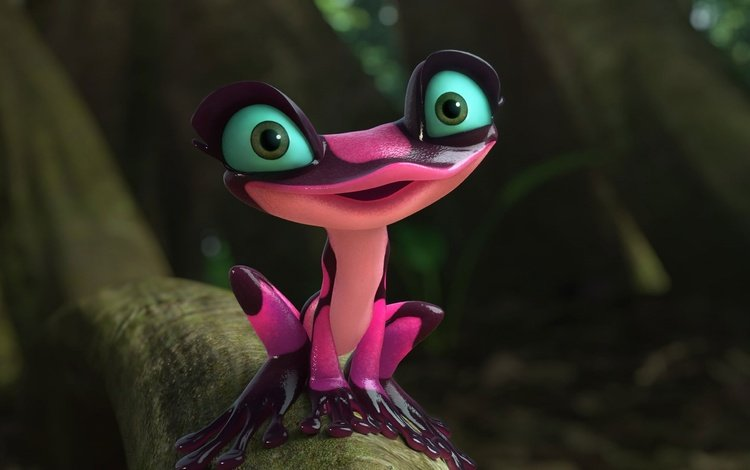 взгляд, мультфильм, лягушка, розовая, лапки, древесная, рио 2, look, cartoon, frog, pink, legs, wood, rio 2
