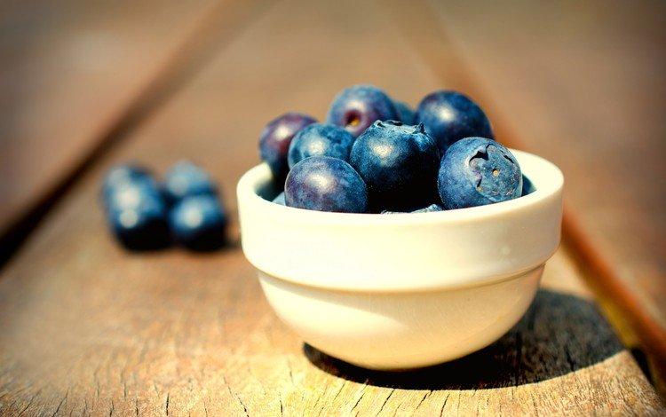 доски, ягоды, черника, миска, board, berries, blueberries, bowl