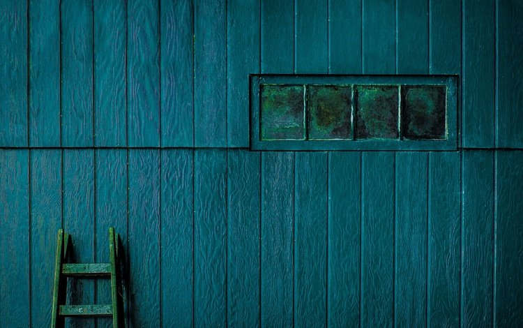 лестница, фон, цвет, стена, доски, окно, ladder, background, color, wall, board, window