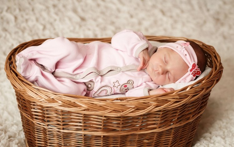 сон, девочка, корзина, ребенок, костюм, младенец, малышка, sleep, girl, basket, child, costume, baby
