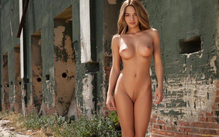 голая, ню, брюнет, outdoors, naked, nude, brunette