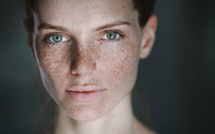 портрет, веснушки, вика, виктория колодько, portrait, freckles, vika, victoria, enlarged by such