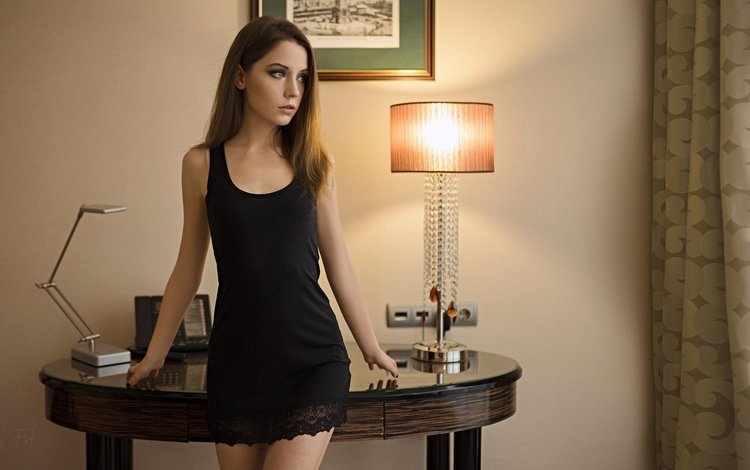 девушка, лампа, стол, модель, комната, xenia kokoreva, ксения кокорева, сергей fat, girl, lamp, table, model, room, kseniya kokoreva, sergey fat
